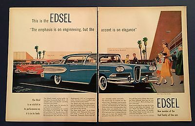 Edsel This is the Edsel - double page advertisement