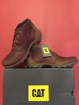 🆕Mens CAT Caterpillar Transform Leather Boots Brown Size Uk 9 BRAND NEW BOXED