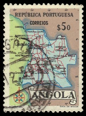 ANGOLA 388 (Mi394) - Colonial Map (pf83094)