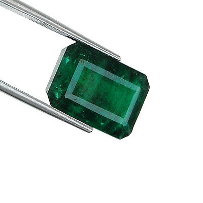 11.00 Cts Untreated Rich Green Natural Zambian Emerald Gemstone for Astrology