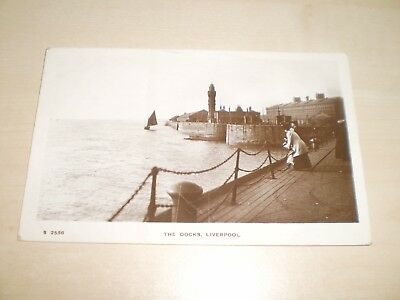 1917 Real Photo Postcard Of The Docks Liverpool By Kingsway Series