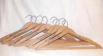 """8 Old Wooden Hangers From The Abbey Victoria Hotel New York City """"shabby Abbey"""""""