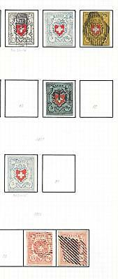 Switzerland stamps 1850 Collection of 7 CLASSIC stamps HIGH VALUE!