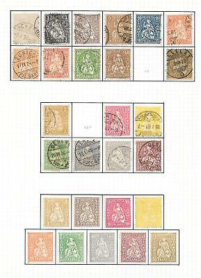 Switzerland stamps 1862 Collection of 27 CLASSIC stamps HIGH VALUE!