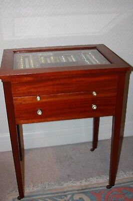 Antique Medical Optical Trial Lens Eye Exam Case Opticians-IN MAHOGANY CABINET