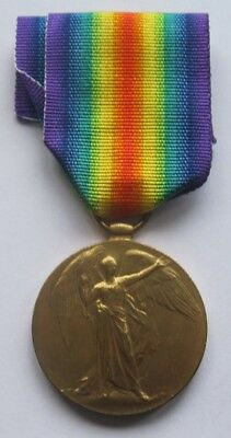 Ww1 Victory Medal - Pte. W. Roblin. Welsh. R.