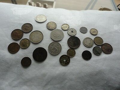 22 Old and Not So Old Vintage Foreign Coins Mixed France Germany Others