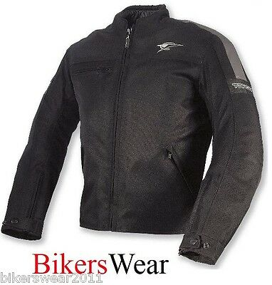 TARGA Task Black Waterproof Textile Sport Motorcycle/scooter Jacket size L Only