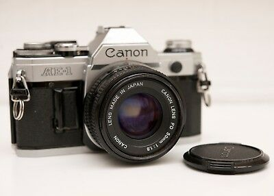 Canon AE-1 Programme  35mm SLR Film Camera + Canon FD 50mm 1:1.8 Lens