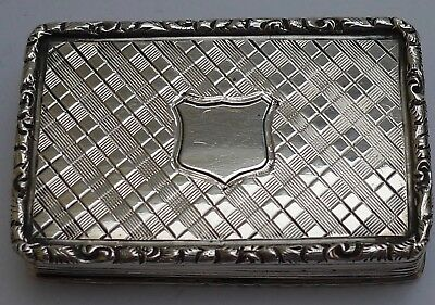 Antique Solid Silver Early Victorian  Snuff Box 1839 FC Crown inside