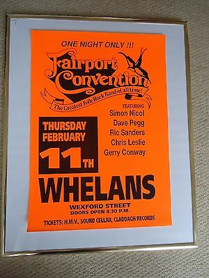 Fairport Convention Poster 1999 Gig Mint Dated Unreleased Valuable Rare Valuable