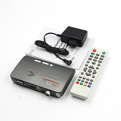 HDMI DVB-T T2 dvbt2 TV VGA Receiver Converter With USB Tuner Remote Control Fad.