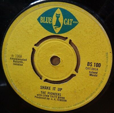 The Pioneers Shake It Up / Goodies Are The Greatest Original Uk Blue Cat 45 Clip