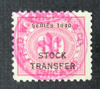 CKStamps: US Revenue Stock Transfer Stamps Collection Scott#RD53 Used CV$100