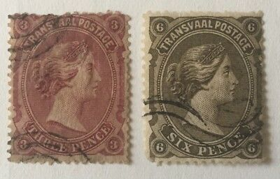 Transvaal QV 3,6 Pence used