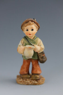 Lovely M J  Hummel miniature figurine - boy with jug
