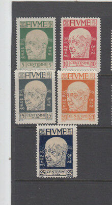 A very nice old unused Fiume 1920 group of issues