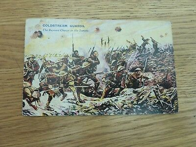 Ww1 Coldstream Guards Somme Battles For The Flag Colour Card