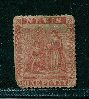 Nevis 1867 - 1p Sc #9, SG #9 Used