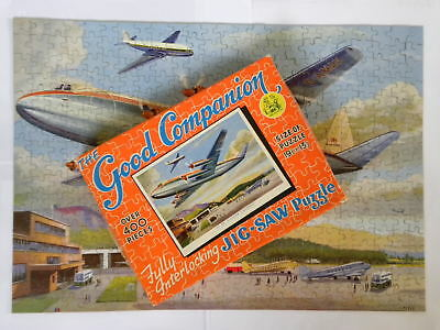"""Boxed Good Companion jigsaw puzzle. No 34 """"Vickers Viscount."""" G-AMAV. Complete."""
