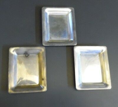"""3 Vintage Antique S. Kirk & Son Sterling Silver Butter Pats  2.5""""x 2"""""""