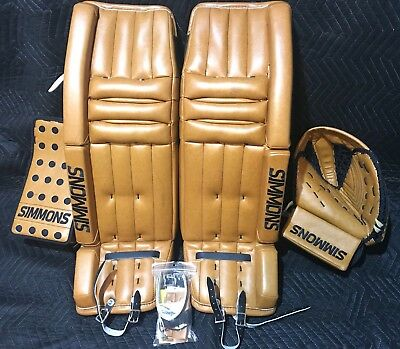 Simmons Goalie Pad Set 586 Pro Hybrid Custom Vintage Color 34+2 Size