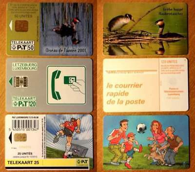 Luxembourg - Lot De 3 Cartes A Puce Differentes - N° 36