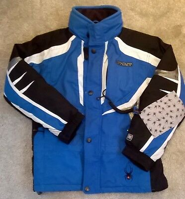 Spyder ski/winter jacket age 10 blue/black/white, boys/girls
