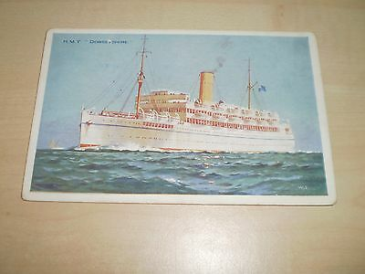 """1930s Postcard Of  H.M.Troopship """"Dorsetshire"""" Bibby Line Advertising Card"""