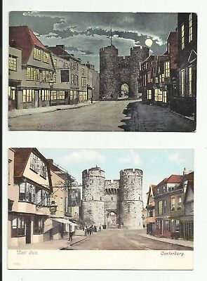 West Gate Canterbury. Night & Day views. 1906.