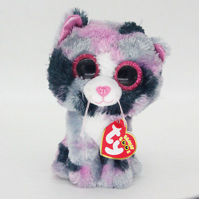 """6"""" Ty Beanie Boos Lindi Cat Pink Med Stuffed Animal Plush Toys Child Gifts A1 A1"""