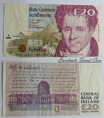 PPP Replacement 9-12-1999 Ireland Irish £20 Pounds Banknote Pick-77 r5 VF