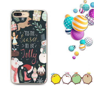 New Year Christmas Cute Pattern Soft Silicone TPU Case Cover For iPhone 8 7 6s 5