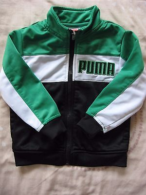 Baby Boys Puma Tracksuit Jacket Green Black Age 12 - 24 Months 1-2 Years Size 2T