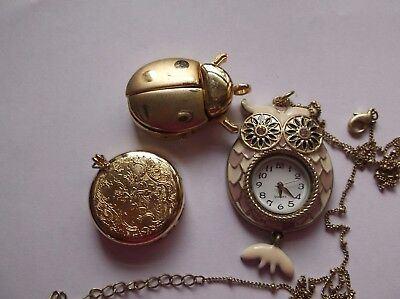 Lot Of Three Assorted Pendant Type Watches, Not Working
