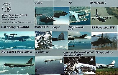 Official Set of U.S. Air Force over Kosovo trading cards (issued early 2000's)