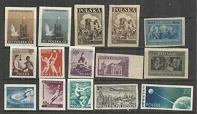 (W124) POLAND – IMPERF Mint Selection