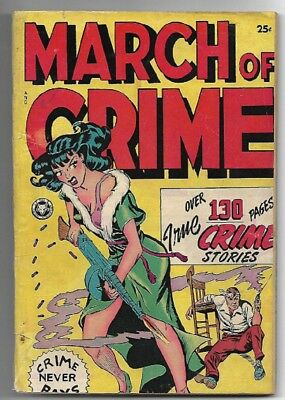 March of Crime   1948    Fox Giant   SCARCE!!!