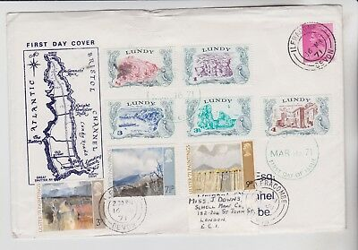 Gb Stamps First Day Cover 1971 University & Lundy Definitives From Collection