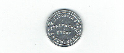 W J Dobbin Department Store Good for 1 cent in Trade Token - Elbow Saskatchewan