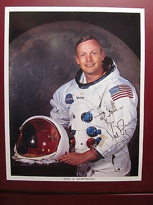 hand signed autograph- 8x10 photo ASTRONAUT NEIL ARMSTRONG vintage 1991