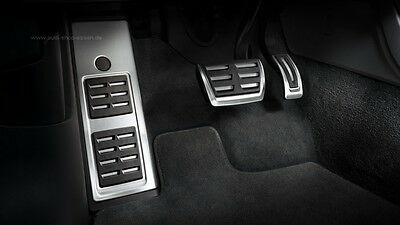 Genuine Audi Q5 FY Foot Rests and Pedal Caps Stainless Steel for