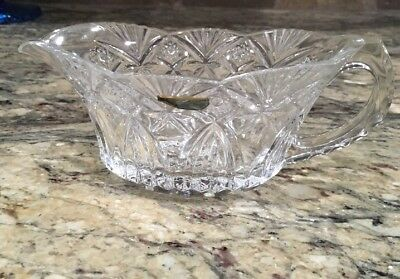 Vintage Lead Cristal J G Durand Gravy Sauce Boat Only Vincennes W Label Unused