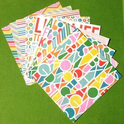 Alphabet Rainbow - 6x6 Recollections Home Basics Scrapbooking Paper Pack