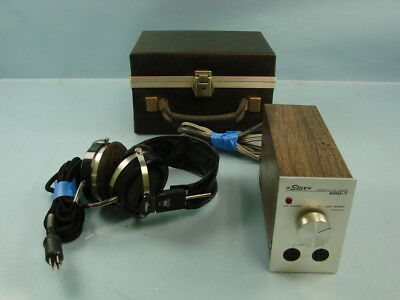 Vtg Stax SRD 7 Adaptor and SR-X Mark 3 Headphone w/ Case For Parts Repair