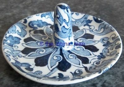 WOODS blue & white FREDERICK RHEAD CHUNG pattern RING TREE
