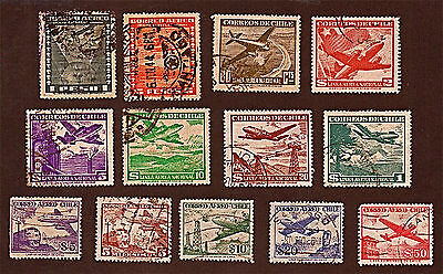 Hungary, 13 1934-57 Airplanes, Air Mail Type  +Stamps, Used, See Descr   FUS598