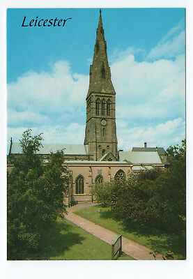 (P2519) Leicester Cathedral. Salmon Cameracolour Postcard