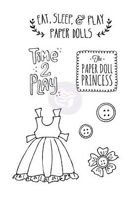 "BRAND NEW Prima Julie Nutting - Mixed Media Doll Stamp Kit ""PLAY TIME"" 910730"