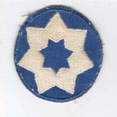 WW 2 US Army 7th Service Command Patch Inv# Y542
